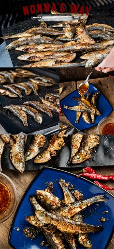 Sardines grilled on the Cookina Grilling Sheet dressed with hot pepper, garlic, oregano, and olive oil. A squeeze of lemon just before eating to finish it off! via @nonnasway