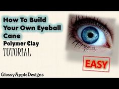 How To Build Your Own Eyeball Cane EASY from Polymer Clay -Tutorial - YouTube.   She explains the process using coloured pencils - very interesting.