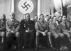 Hitler and staff - listening to a motivational speaker??