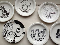 Why go to MAKE when we can DIY at home for the price of Sharpies and Ikea plates?! Handwash only