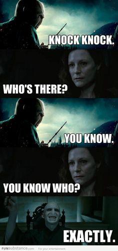 Voldemort knocking