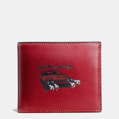 3-IN-1 WALLET IN GLOVETANNED LEATHER WITH WILD CAR PRINT …
