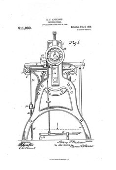 Patent US911930 - Printing-press. - Google Patents