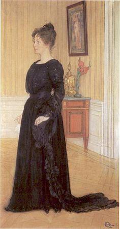 "Carl Larsson ""Signe Thiel"" (1900). Olja på duk 210 x 110 cm. Thielska Galleriet, Stockholm."