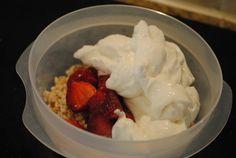 Yogurt & Strawberries Barley breakfast bowl