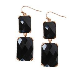 Geneva Earrings - Oversized Onyx Gemstone Earrings