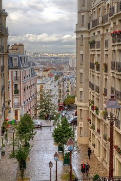 The 130 metre hill of Montmartre, in the north of Paris, France ~ Photo by...Chris G©