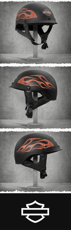 Fit, style, and comfort.   Harley-Davidson Wheeler Half Helmet