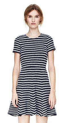 005964f37b6 Albita Dress in Guarda Fit Flare Dress, Fit And Flare, Striped Dress, Theory