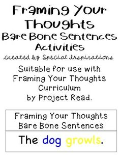 Suitable for use in accompaniment with Framing Your Thoughts Curriculum by…