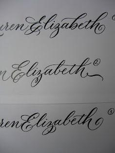 A Place To Flourish: Calligraphy Flourish Friday - Capital E