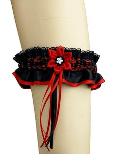 red and black garter garter for gothic ou by FashionForWomen