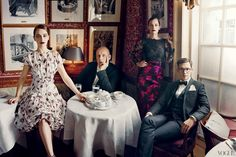 The Vogue 120 by Norman Jean Roy: Emilia Clarke, Peter Copping, Ruth Wilson and Erdem Moralioglu Norman Jean Roy, Erdem Moralioglu, Vogue Us, Vogue Magazine, Vogue Fashion, Male Fashion, Fashion Shoot, Fashion Art, Editorial Fashion