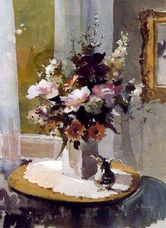 Laurentino Marti. Artimañas: Selección de acuarelas de flores - Flowers - watercolors