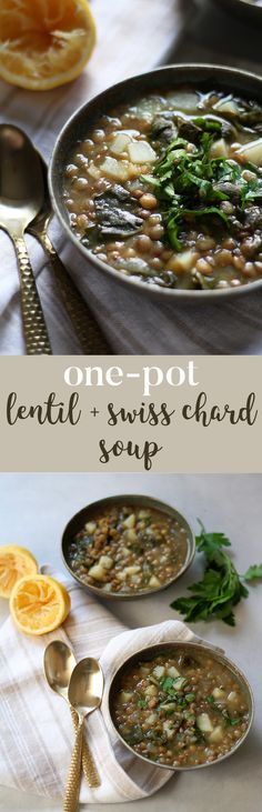 One-Pot Lentil and Swiss Chard Soup