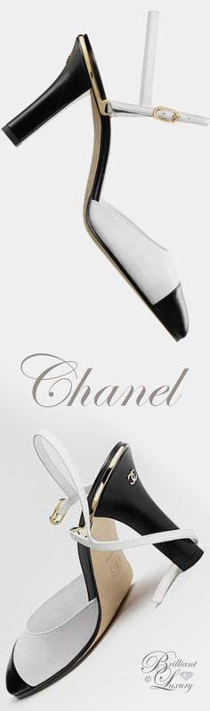 Brilliant Luxury by Emmy DE * Chanel pumps with straps SS 2017