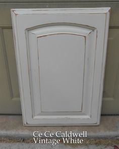 Using Chalk Paint for Oak Kitchen Cabinets (test door) | Simply Rooms (by design)