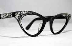 Vintage 50s Cat Eye Glasses. New Old by CollectableSpectacle