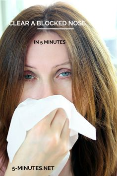 How to Clear a Blocked Nose in 5 Minutes – Without Medication... I am not kidding, I just tried this and it worked!!! Laura