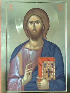 Byzantine Icons, Byzantine Art, Sign Of The Cross, Son Of God, Orthodox Icons, Ikon, Fresco, Jesus Christ, Saints