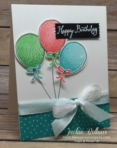 Klompen Stampers (Stampin' Up! Demonstrator Jackie Bolhuis): Balloons Are So Festive!