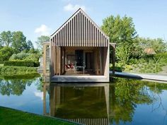 Need more space? Consider a genius floating addition. | 28 Houseboats That Will Make You Want To Float Away