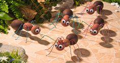 Lustige Ameisen aus Styroporformen und buntem Alu-Draht - VBS-Hobby.com
