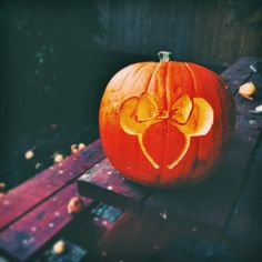 Show Off Your Disney Side (And Style!) This Halloween With Our Pumpkin Template - be sure to check out the photo of the ears when the pumpkin is lit!  Super cool!