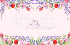 Watercolor wildflowers background royalty-free stock vector art