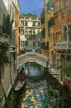 Page gallery of paintings the artist Azat Galimov. Santa Lucia, Venice Canals, Water Effect, Italy Painting, Great Paintings, Grand Canal, Shop Front Design, Contemporary Artists, Impressionism