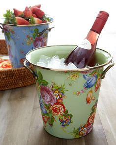 """Flower Market"" Wine Cooler by MacKenzie-Childs at Neiman Marcus."