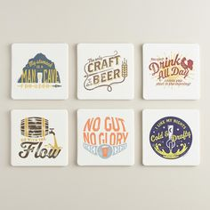 Pour Folk Coasters 6 Pack