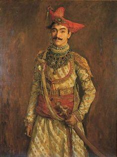 Maharaja Tukojirao II of Dewas Jaisalmer, Udaipur, Indian Prince, Monsoon Wedding, Colonial India, Royal Indian, History Of India, Vintage India, Costume