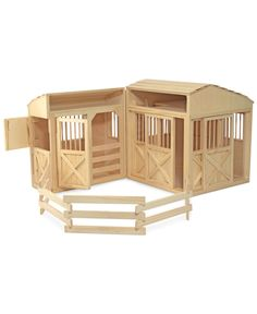 Melissa And Doug Folding Horse Stable - This wooden stable is fully assembled and ready for fun all you need to do is add some horses and imagination. The set comes equipped with seven working doors, a hay loft, ladder and corral. Play Horse, Barbie Horse, Barbie Doll, Hay Loft, Toy Barn, Horse Stables, Horse Barns, Horse Fence, Horse Horse