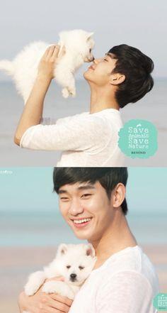 21 Hot Korean men holding cute animals