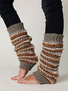 Super soft knitted striped chunky legwarmer with ribbed top and bottom hem. *By Wooden Ships *76% Acrylic, 12% Mohair, 12% Wool *Hand Wash Cold *Import