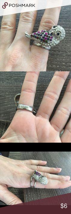 👔FATHERS DAY SALE📰Rhinestone owl ring Size 8 rhinestone owl ring! Jewelry Rings