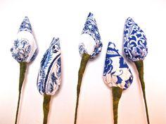 Thai Lotus Buds Fabric Flowers  A Beautiful by OrchidIslandDesigns, $15.00