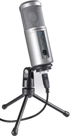 Audio-Technica ATR2500-USB Cardioid Condenser USB Microphone Gaming Microphone, Recording Studio Home, Audio Engineer, Home Camera, Audio Sound, Sound Waves, Audio Equipment, Best Games, Cameras