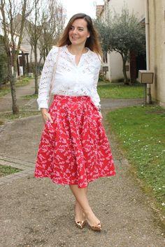 Blog mode les petites bulles de ma vie looks jupe Tara Jarmon Blouse Opullence