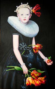 """Saatchi Art Artist Titti Garelli; Painting, """"Tulipa"""" #art"""
