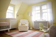 devon's nursery: sweet bee has made quite a space for her lucky little girl.