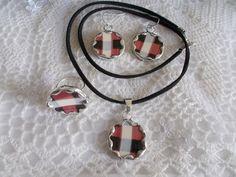 broken china jewelry Villeroy&Boch fajansz ékszer, nyaklánc, fülbevaló, gyűrű