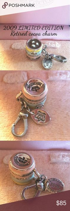 2009 Limited edition Juicy couture cocoa  charm this peice is so sweet. the colors are rich and vibrant. it's a 2009 LIMITED EDITION cocoa charm, silver tone...a must have for collectors! Juicy Couture Jewelry