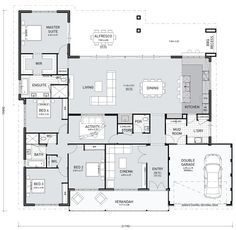 You might like this floor plan today! It's considered a farmhouse design because of the verandah and overall width. I like this layout. It seems to have everything in the right places. The laundry/mudroom/kitchen is great. I like the bench. House Plans One Story, Dream House Plans, House Floor Plans, The Plan, How To Plan, Home Design Floor Plans, Plan Design, Single Storey House Plans, 4 Bedroom House Plans