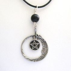 Wiccan Jewelry Pagan Jewelry Necklace Pentacle by TheGlitterShop, $30.00