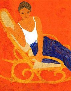 Pierre Boncompain | Le Rocking Chair , Serigraph, Ap 34/50 - Hommage visible à Matisse ...