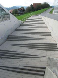 Escada e Rampa - Limaonagua ramp + stairs Landscape Stairs, Urban Landscape, Landscape Design, Stairs Architecture, Architecture Details, Landscape Architecture, Amazing Architecture, Ramp Stairs, Loft Stairs
