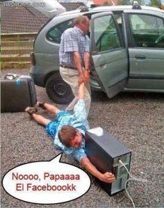 Memes Chistosos - Noooo, papaaaaa el faceboook