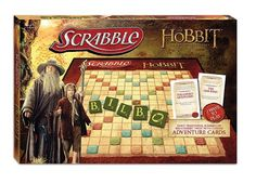 Scrabble: The Hobbit Edition, USAopoly. Special tiles and letters, and the rules allow words from the book, including Elvish words! Epic game nights, commence!